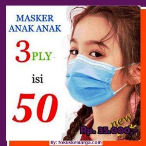 Masker 3 Ply Anak-anak Isi 50 Kategori Medis