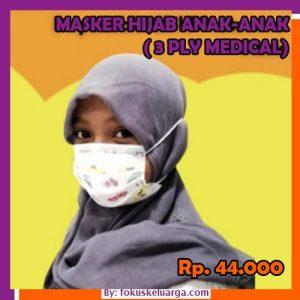 Masker Hijab Anak-anak 3 Ply 3ply Isi 50 Kategori Medis