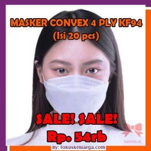 masker convex 4 ply korea kf94 isi 20