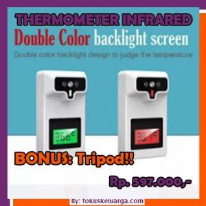 Thermometer Infrared Otomatis Non Contact Sensor Tangan Bonus TRIPOD 2in1
