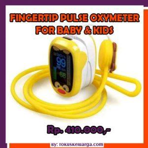 Oximeter Pulse Fingertip Untuk Bayi Dan Balita LED 4 Warna Dengan Kabel USB Charger