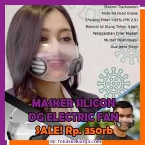 Masker Transparan Dengan Electric Sirculation Fan