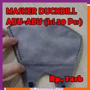 Masker 3 Ply 3Ply Duckbill Abu-Abu Grey Medical Grade Isi 50 pcs